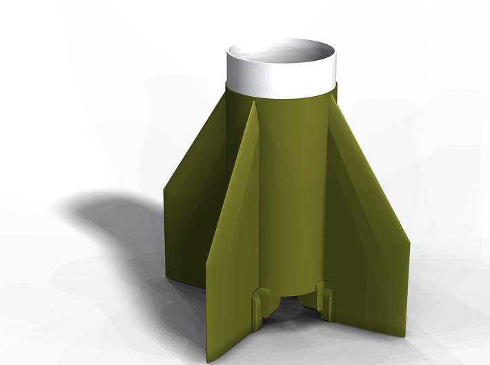 SCUD-B Fin Unit (Fits BT-60 for 18 mm motors) 3d printed