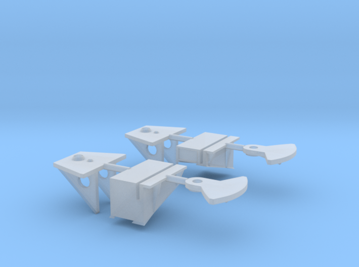 1/96 Bismarck Bridge Wing Wall Connections Set x2 3d printed