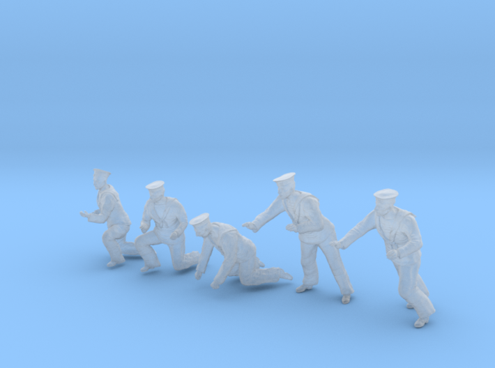 1-56 Royal Navy Sailors Set1-5 3d printed