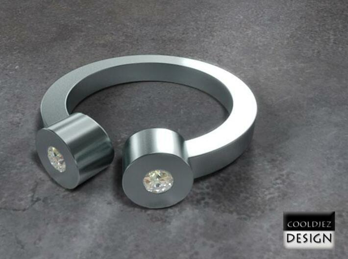 Ring - 2Tube 3d printed RenderD