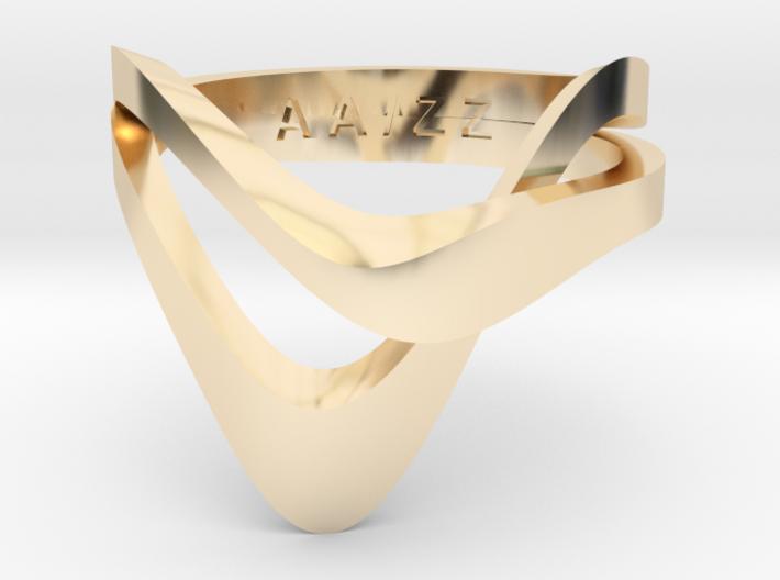 KAZE PRECIOUS 14k gold plated 3d printed