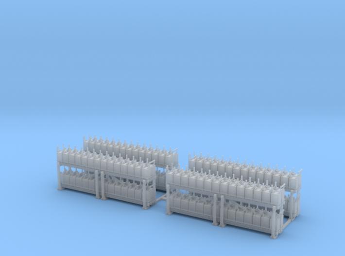 NYC - Battery Rack - HO (4X) 3d printed