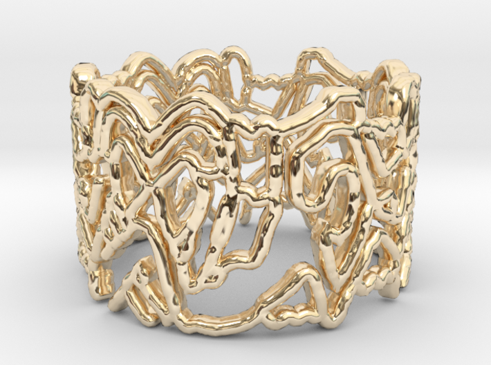 People Heart Ring Design Ring Size 7.75 3d printed