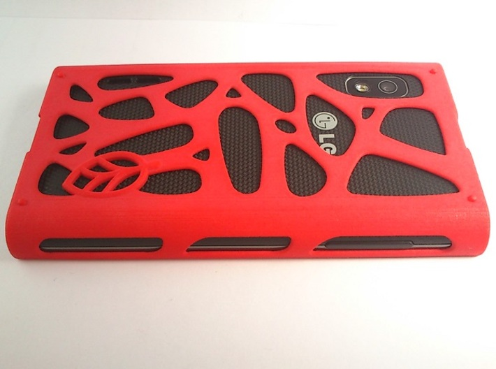 LG Optimus L5 mesh case 3d printed