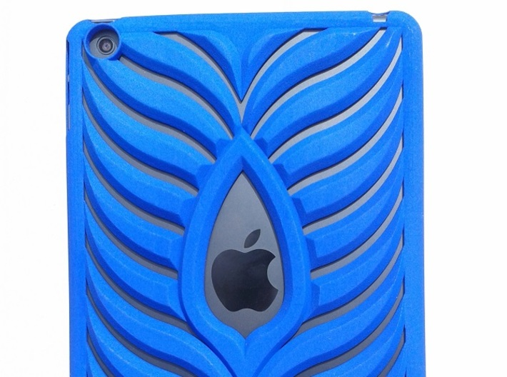 Ipad Mini Case 3d printed Royal Blue Strong & Flexible