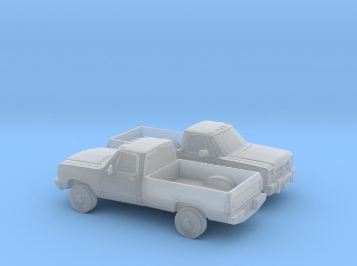 1/160 2X 1991-93 Dodge Ram Single Cab 3d printed