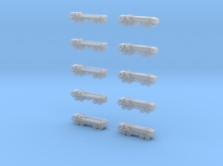 HEMTT Cargo Truck And Tanker Convoy 3d printed