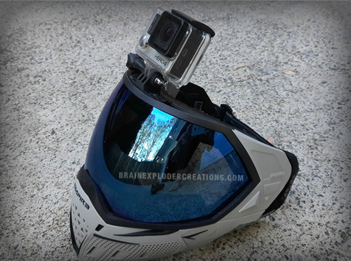 Paintball Mask Mount for GoPro Cameras 3d printed Photo by: justinhatl | Empire EVS Mask