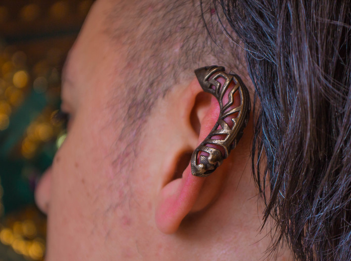 Springtime Ear Jacket - Left 3d printed
