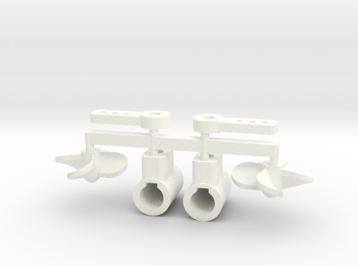 Azimuth thruster with 13mm props 3d printed