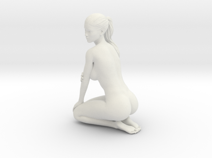 Long Ponytail Girl-054 3d printed