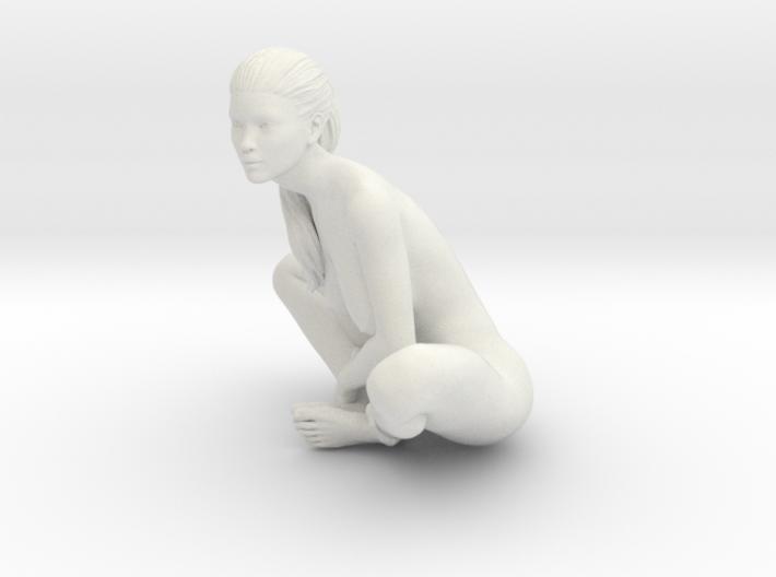 Long Ponytail Girl-063 3d printed