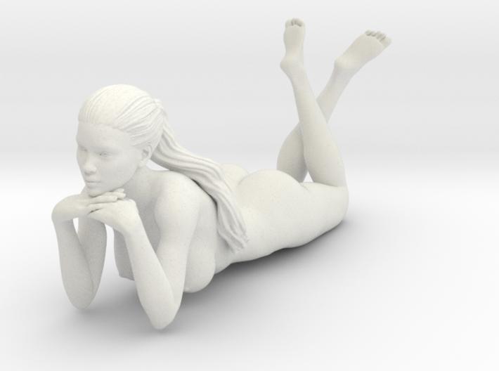 Long Ponytail Girl-060 3d printed