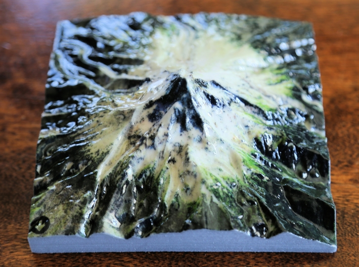 "Mt. Hood Map - 5"" 3d printed"