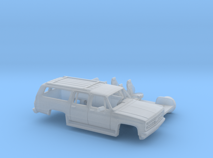 1-87 1986 Chevrolet Suburban 2Piece Kit 3d printed