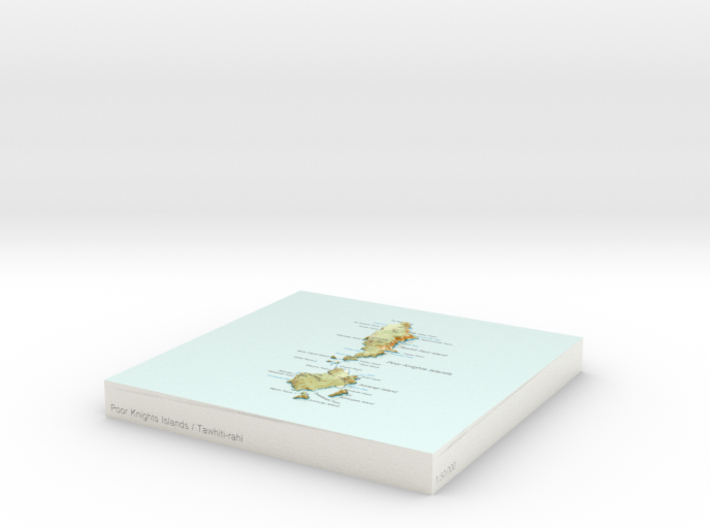 Poor Knights Islands / Tawhiti-rahi - 15cm / 1:50k 3d printed