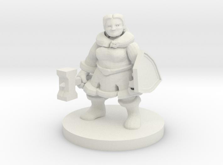 Female Dwarf Cleric - Augrek Brighthelm 3d printed