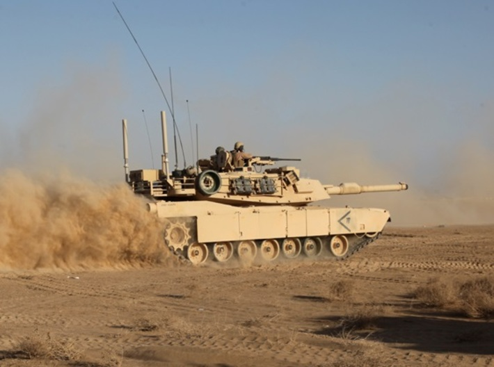 Abrams M1A1 1/350 scale set of 3 3d printed Desert Storm