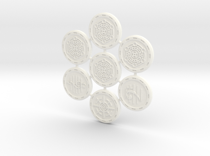 Descent Image, Song, Tracking tokens (7 pcs) 3d printed
