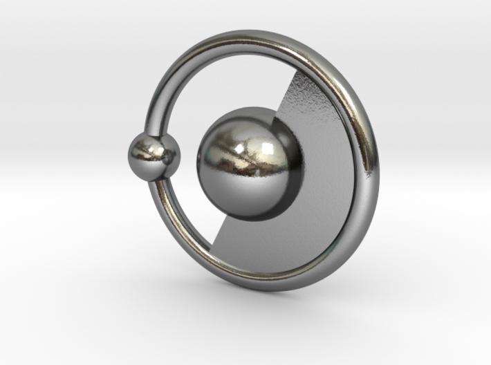 Hydrogen Pendant 3d printed
