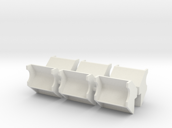 1/96 scale YTB Tug Side Bumpers/Rollers 3d printed