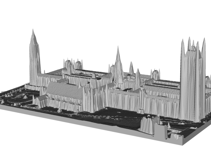 Palace of Westminster / Big Ben Map, London 3d printed