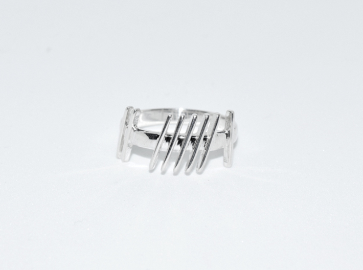 Ogham Gra Ring  3d printed