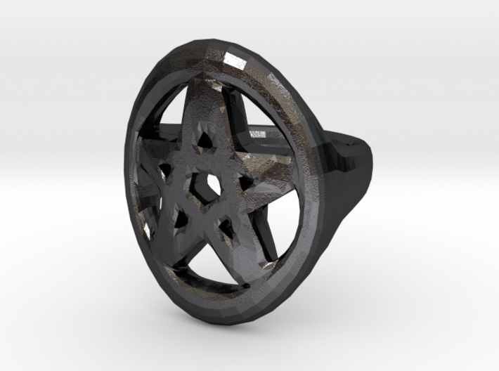 Pentacle Ring - size 12 3d printed