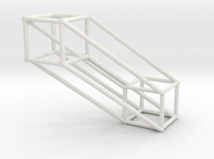 Small 4D Hypercube 3d printed