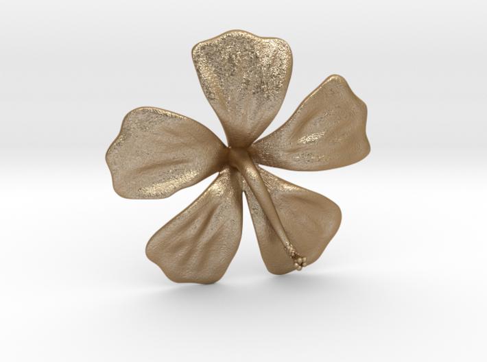 Hibiscus Pendant 3d printed