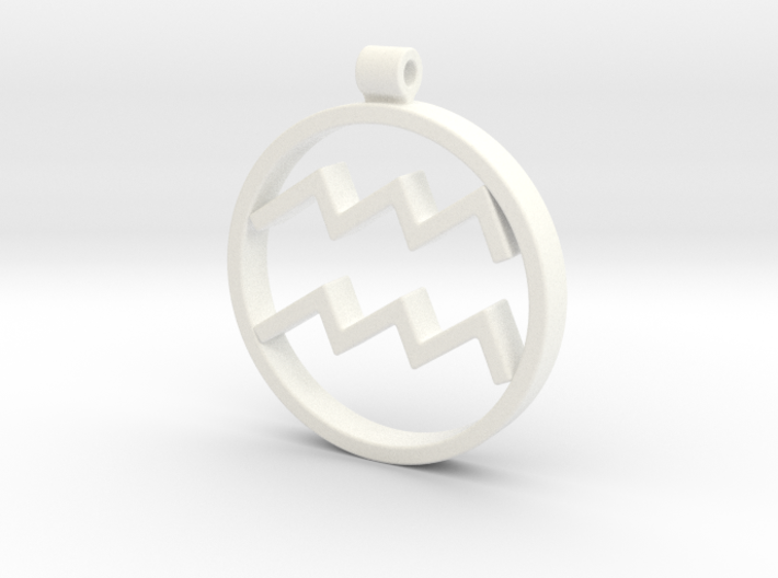 Aquarius Zodiac Sign Pendant 3d printed