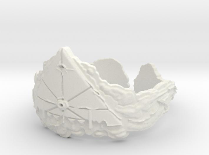 Cloud Ships Lightning, Ring Size 12 3d printed