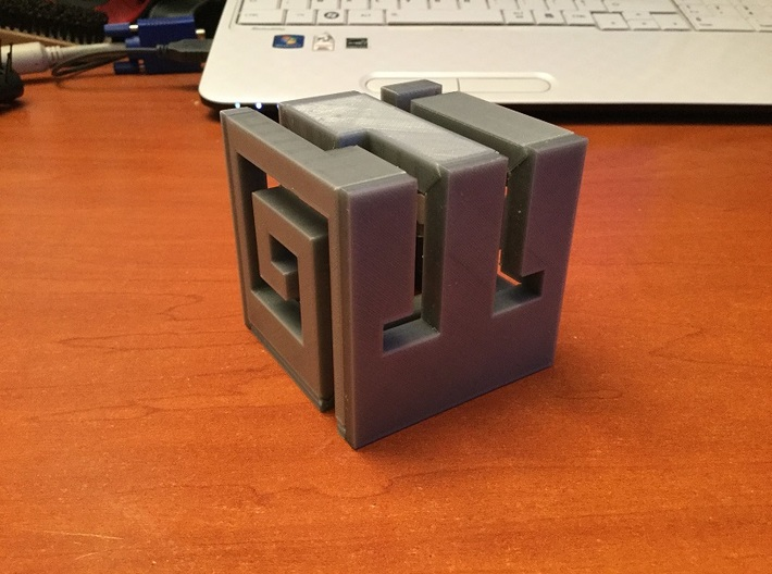 Buildable Nuva Cube Air 5/6 3d printed Assembled Cube