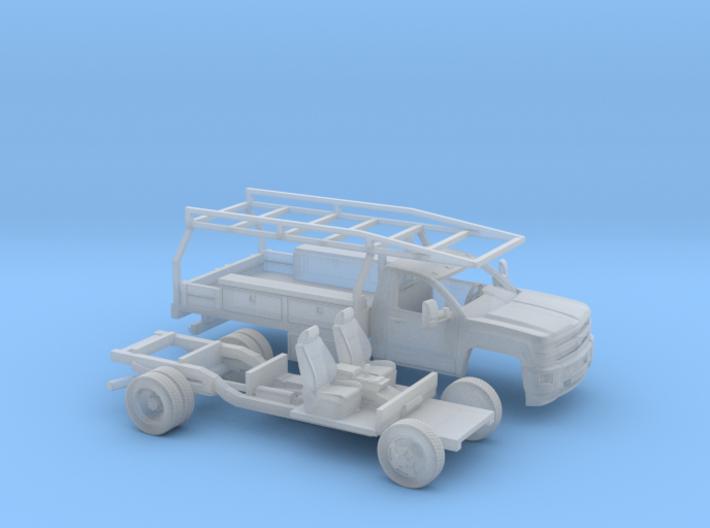 1-160 2015 Chevrolet Silverado Reg.Cab Contractor 3d printed