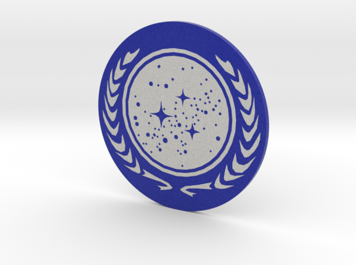 United Federation of Planets Coin = DESKAPADES = 3d printed