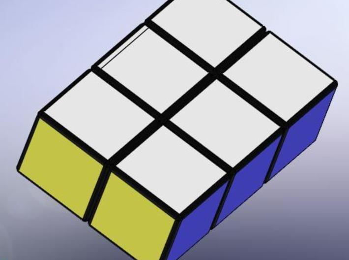 Easy Cuboid: 1x2x3 3d printed Rendered with stickers