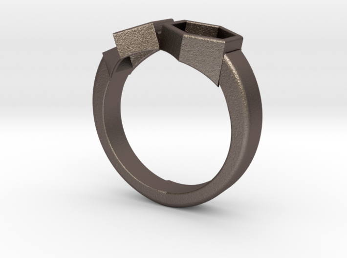 Everything And Nothing Ring (size 10) 3d printed