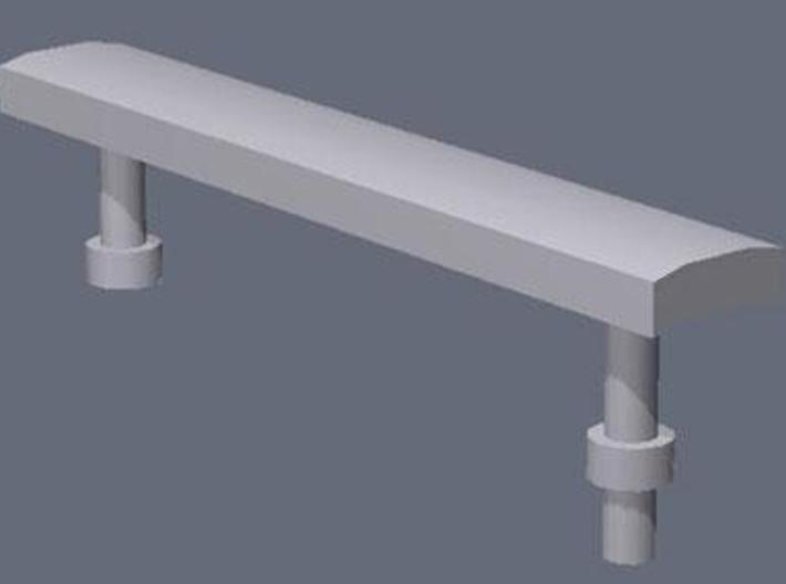 1:76th Modern metal benches 3d printed Rendered image of one of the benches.