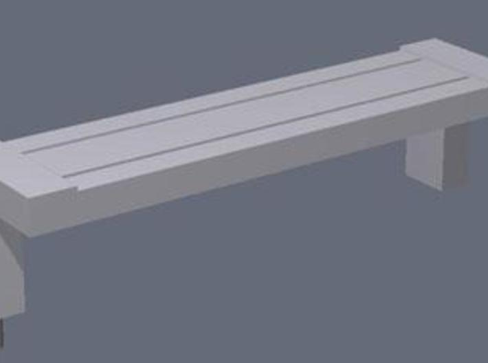 1:76th cantilever benches 3d printed Rendered image of one of the benches.