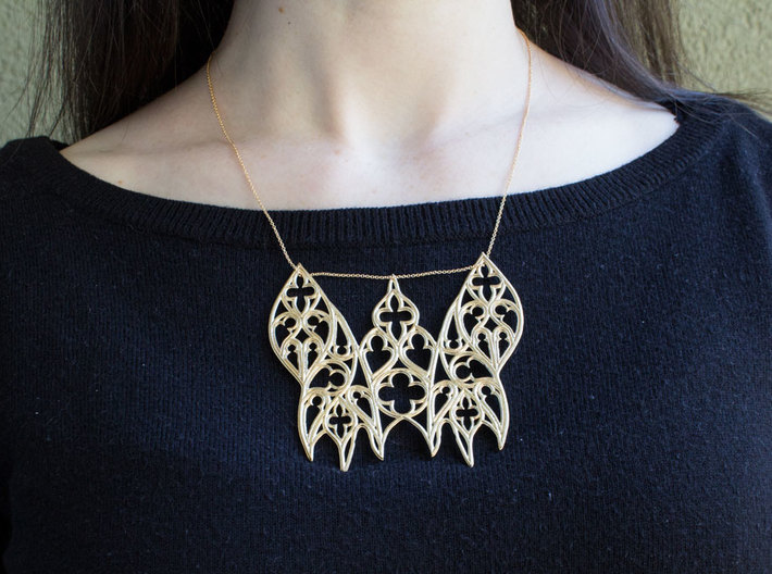 Gothic Moth 3d printed Chain not included.