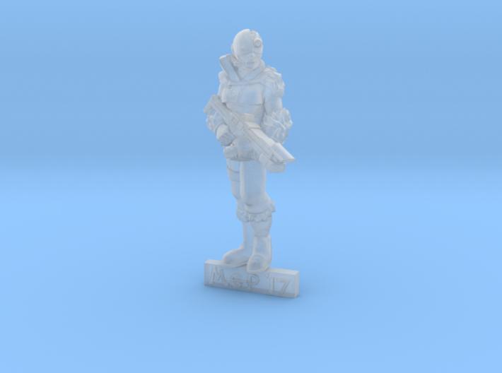 28mm Female Cyborg 3d printed