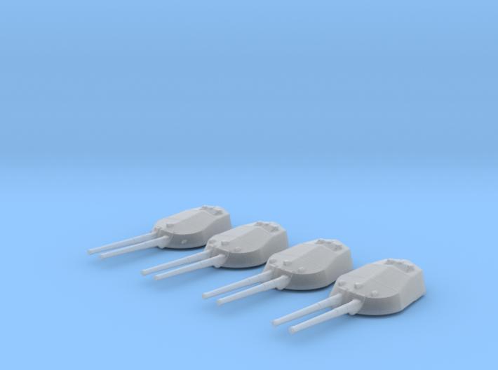 """1/600 RN WW1 13.5"""" MKV Guns x4 HMS Tiger 3d printed 1/600 RN WW1 13.5"""" MKV Guns x4 HMS Tiger"""