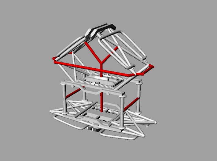 MILW Style Fixed Pantographs 3d printed Snip support structures (in red) and clean with file
