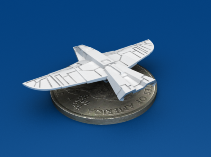 War Hawk Fighter, 4-pack 3d printed Aft 3/4 View
