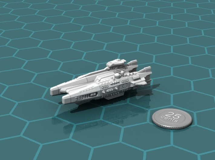 Ikennek Carrier 3d printed Render of the model, with a virtual quarter for scale.