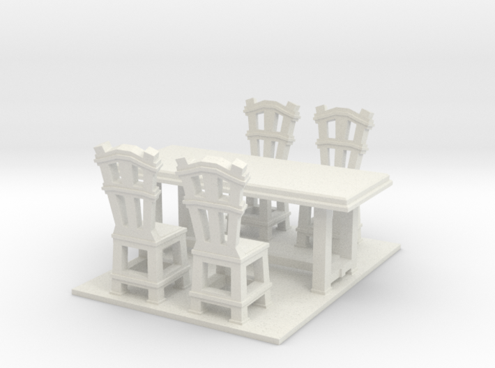 Dinner table and chairs 1.12 3d printed