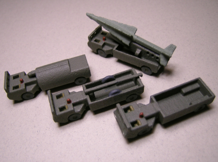 1/285 Scale M520 Goer Nike Missile Launcher 3d printed