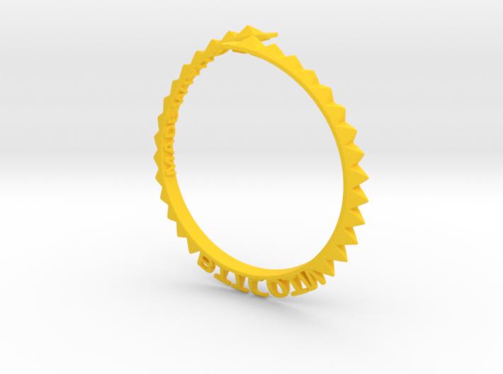 Bitcoin Bracelet 3d printed