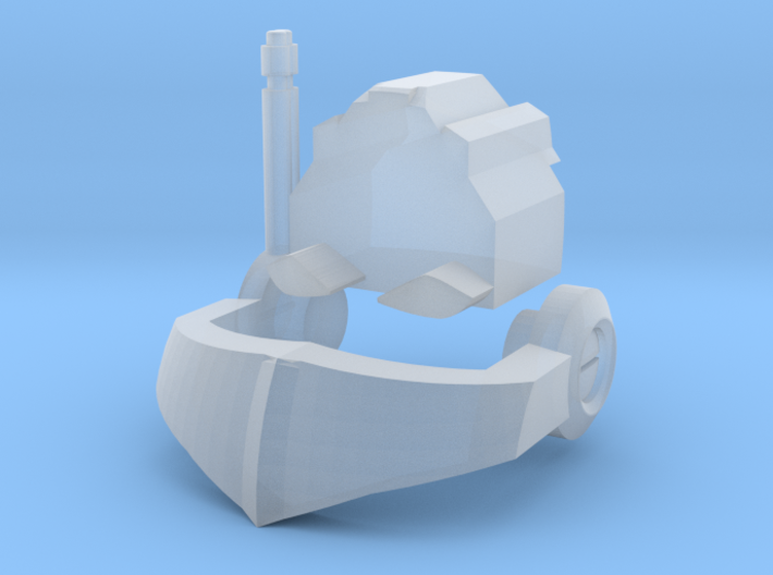 Nautical Femmebot head (Clear FUD/FED parts) 3d printed