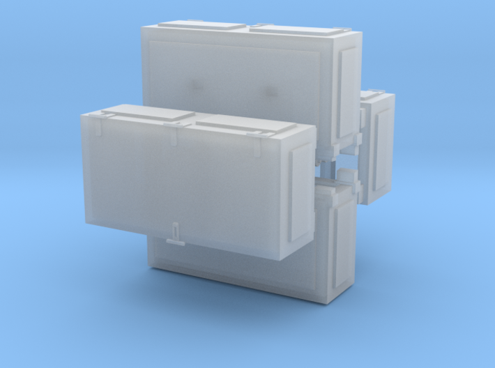 Ammoboxes for Quad Flak 1/72 3d printed